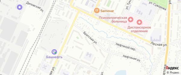 Братская улица на карте Стерлитамака с номерами домов
