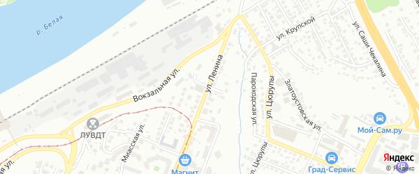 Мастерская улица на карте Уфы с номерами домов