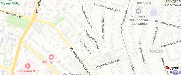 Улица Добролюбова на карте Уфы с номерами домов