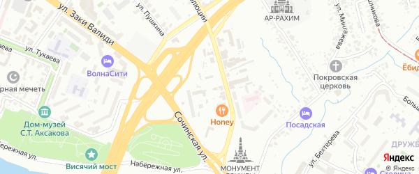Переулок Воровского на карте Уфы с номерами домов