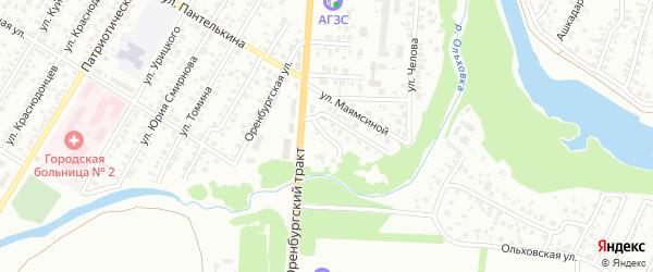Переулок Авдошкина на карте Стерлитамака с номерами домов