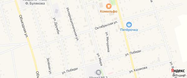 Улица Мира на карте села Мишкино с номерами домов