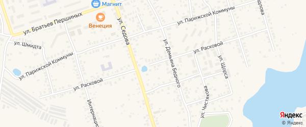 Улица Расковой на карте Благовещенска с номерами домов