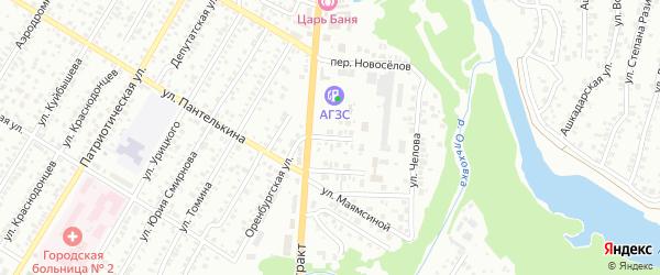 Улица Новоселов на карте Стерлитамака с номерами домов