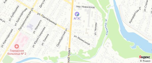 Улица Акмуллы на карте Стерлитамака с номерами домов