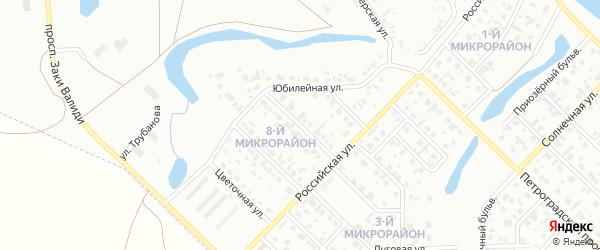 Лазурная улица на карте Салавата с номерами домов
