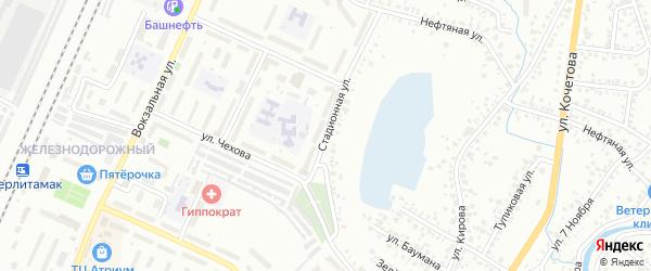 Стадионная улица на карте Стерлитамака с номерами домов