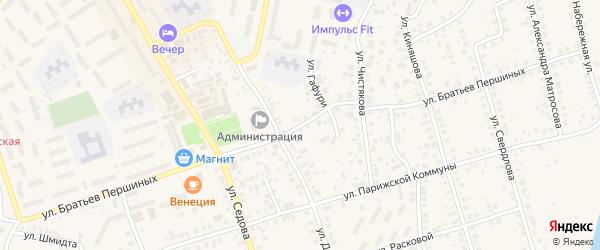 Улица Братьев Першиных на карте Благовещенска с номерами домов