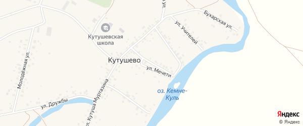 Улица Мечети на карте деревни Кутушево с номерами домов