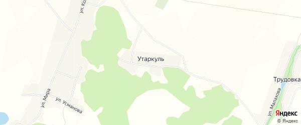 Карта деревни Утаркуля в Башкортостане с улицами и номерами домов
