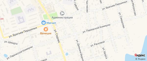 Улица Демьяна Бедного на карте Благовещенска с номерами домов