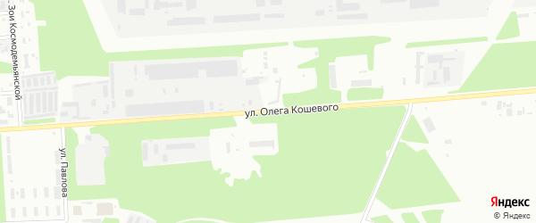 Улица Олега Кошевого на карте Стерлитамака с номерами домов