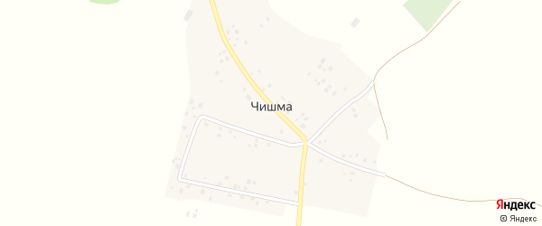 Центральная улица на карте деревни Чишмы с номерами домов