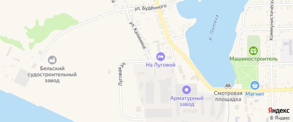 Луговая улица на карте Благовещенска с номерами домов