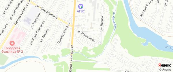 Улица Маямсиной на карте Стерлитамака с номерами домов
