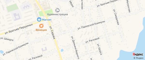Улица Парижской Коммуны на карте Благовещенска с номерами домов