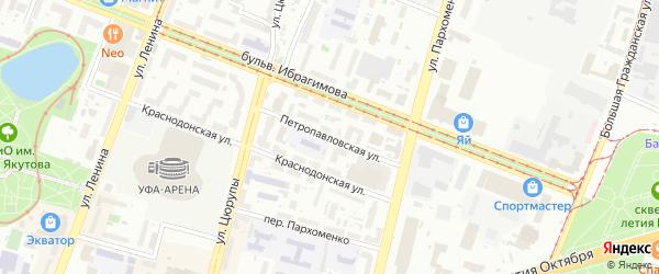Петропавловская улица на карте Уфы с номерами домов