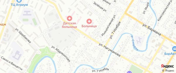 Улица Нагуманова на карте Стерлитамака с номерами домов