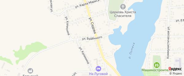 Улица Буденного на карте Благовещенска с номерами домов