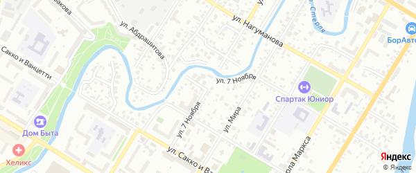 Улица 7 Ноября на карте Стерлитамака с номерами домов