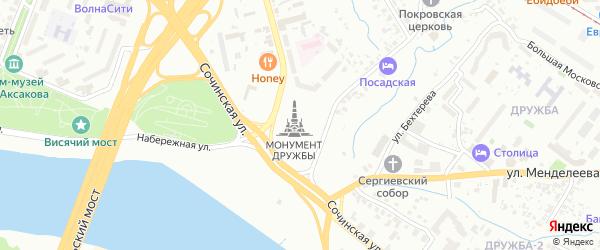 Первомайская площадь на карте Уфы с номерами домов