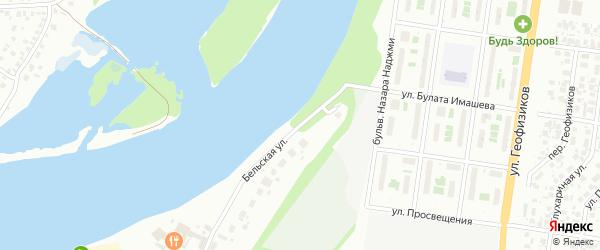 Нижняя Бельская улица на карте Уфы с номерами домов