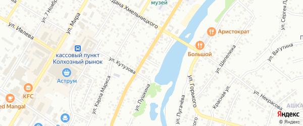Уральский переулок на карте Стерлитамака с номерами домов