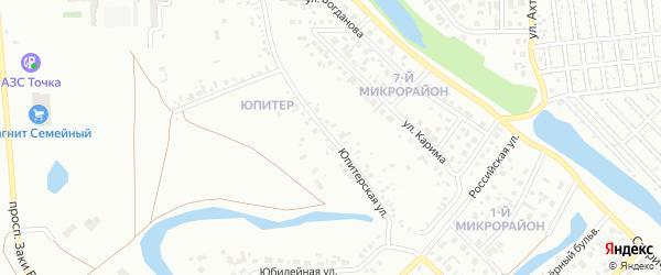 Юпитерская улица на карте Салавата с номерами домов