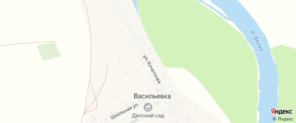 Улица Кочеткова на карте села Васильевки с номерами домов