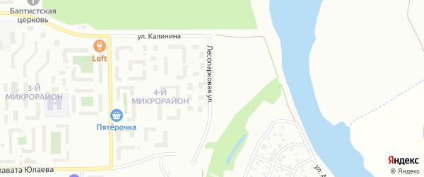 Лесопарковая улица на карте Салавата с номерами домов