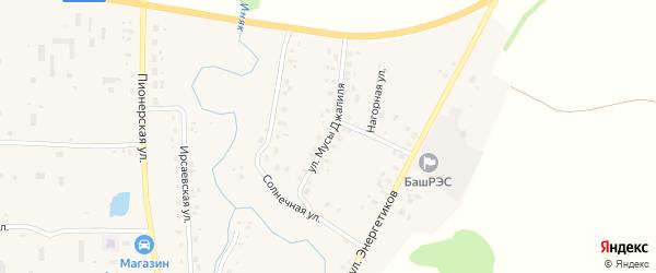 Улица Мусы Джалиля на карте села Мишкино с номерами домов