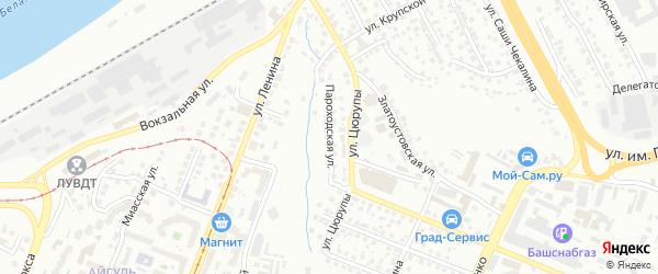 Пароходская улица на карте Уфы с номерами домов