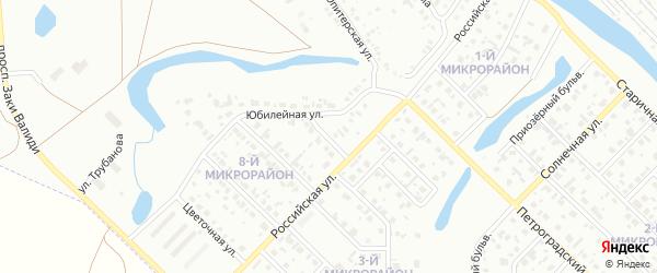 Звездный переулок на карте Салавата с номерами домов
