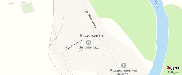 Ключевая улица на карте села Васильевки с номерами домов