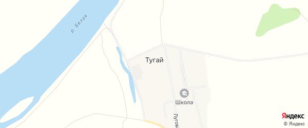 Карта села Тугая в Башкортостане с улицами и номерами домов