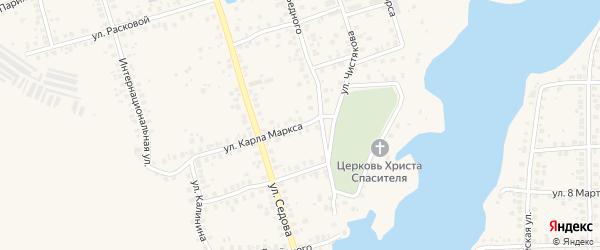 Улица Карла Маркса на карте Благовещенска с номерами домов