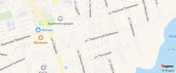 Улица Щорса на карте Благовещенска с номерами домов