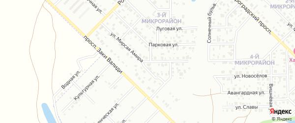 Улица Амира на карте Салавата с номерами домов