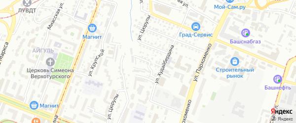 Ветеринарная улица на карте Уфы с номерами домов