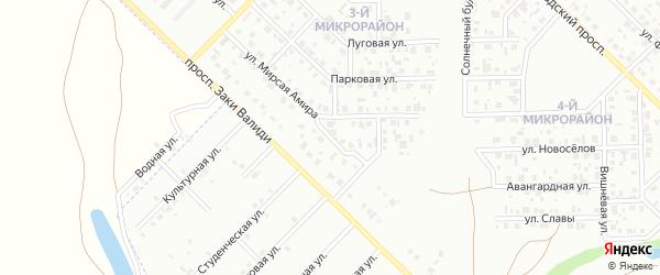 Архитектурная улица на карте Салавата с номерами домов