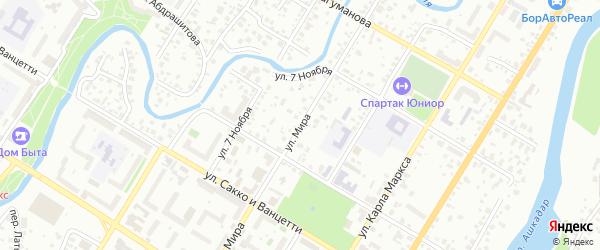 Улица Мира на карте Стерлитамака с номерами домов