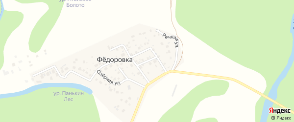 Уфимский переулок на карте деревни Федоровки с номерами домов