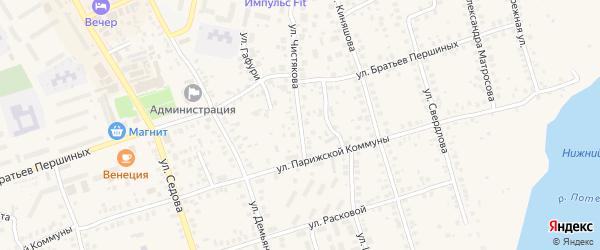 Улица Чистякова на карте Благовещенска с номерами домов