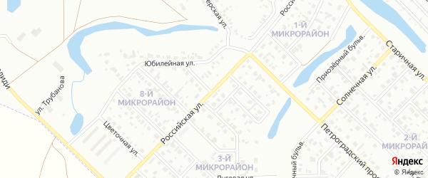 Российская улица на карте Салавата с номерами домов