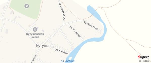 Улица Учителей на карте деревни Кутушево с номерами домов