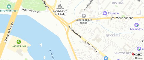 Сочинская улица на карте Уфы с номерами домов