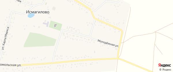 Молодежная улица на карте села Исмагилово с номерами домов