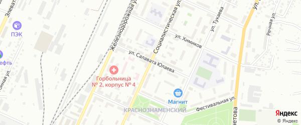 Социалистическая улица на карте Стерлитамака с номерами домов