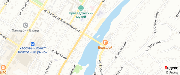 Улица Пушкина на карте Стерлитамака с номерами домов