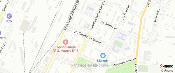 Улица Салавата Юлаева на карте Стерлитамака с номерами домов
